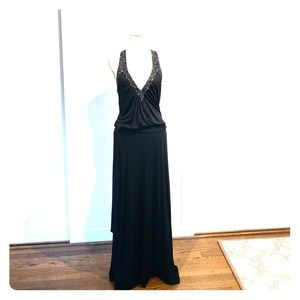 BCBG MazAzria open back gown